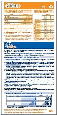 Informazioni 10elotto calcolo delle probabilit e vincite for Costo per costruire sul proprio lotto